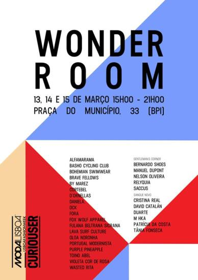 Cartaz WONDER ROOM ModaLisboa