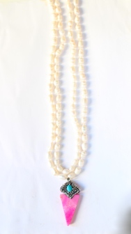 #boho #necklace #bracelet #cristal #turquoise